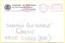 ITALIA - ITALY - ITALIE - 2002 - 00,41 EMA, Red Cancel - Comune Di Copparo - Viaggiata Da Copparo Per Lugo - Affrancature Meccaniche Rosse (EMA)