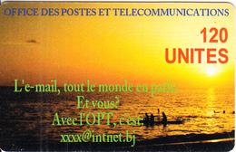 "BENIN - Seascape, L""e-mail, OPT Prepaid Card 120 Unites, Used - Benin"