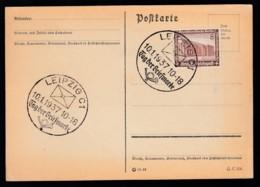 Deutsches Reich Karte Ungelaufen Sonderstempel 1937 Leipzig Lot 479D - Deutschland
