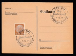 Deutsches Reich Karte Ungelaufen Sonderstempel 1937 Stettin Lot 482D - Deutschland