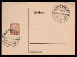 Deutsches Reich Karte Ungelaufen Sonderstempel 1939 Königsberg Lot 491D - Deutschland
