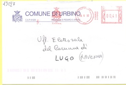 ITALIA - ITALY - ITALIE - 2002 - 00,41 EMA, Red Cancel - Comune Di Urbino - Viaggiata Da Urbino Per Lugo - Affrancature Meccaniche Rosse (EMA)