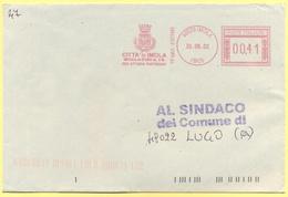 ITALIA - ITALY - ITALIE - 2002 - 00,41 EMA, Red Cancel - Comune Di Imola - Viaggiata Da Imola Per Lugo - Affrancature Meccaniche Rosse (EMA)