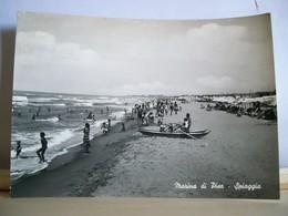 1959 - Marina Di Pisa - La Spiaggia - Animata - Ed. D. Castelli Vitali - Pisa