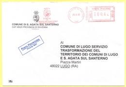ITALIA - ITALY - ITALIE - 2002 - 00,62 EMA, Red Cancel - Comune Di S. Agata Sul Santerno - Viaggiata Da S. Agata Sul San - Affrancature Meccaniche Rosse (EMA)