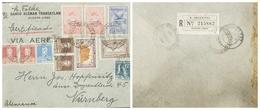 O) 1934 ARGENTINA, OVERPRINTED  GRAF ZEPPELIN 1932 IN SC C35 5c- SC C20 20c, WINGS CROSS THE SEA SC C14 90c, REFRIGERATI - Covers & Documents