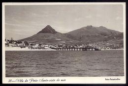 Postal Fotografico: VILA Do PORTO SANTO Visto Do Mar. Foto-Perestrellos. Vintage Photo Postcard MADEIRA - Madeira