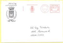 ITALIA - ITALY - ITALIE - 2002 - 00,41 EMA, Red Cancel - Comune Di Modigliana - Viaggiata Da Modigliana Per Lugo - Affrancature Meccaniche Rosse (EMA)