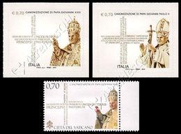 Italia-Vaticano / Italy-Vatican 2014: 2 Serie Giovanni Paolo II E Giovanni XXIII / John Paul II & John XXIII Joint Is.** - Joint Issues