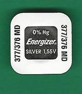 PILE 377 - 376 SR626SW SR626W ENERGIZER  QUARTZ NEUF DANS SON ETUI D'ORIGINE - Bijoux & Horlogerie