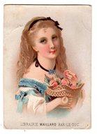 Chromo Imp. Testu & Massin 12-9, Fille Avec Calendrier 1873, Bar Le Duc - Autres