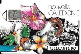 CARTE°-PUCE-NOUVELLE-CALED ONNIE-80U-NC7 A-SC5-11/92-MOZAIQUE-V° N°00055-0 Env Devant Le 5--UTILISEE-TBE- - New Caledonia