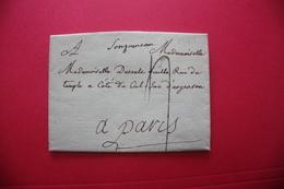 1782 LONGJUMEAU (Lenain #1) Lonjumeau Manuscrit Sur Lettre Pour Paris - TTB - Postmark Collection (Covers)