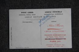 """Carte Postale Publicitaire : PARIS, """" ALICE MARIE BATIK D'AUVERGNE"""" , Impressions D'ART, Artistes Et Foire 1923 - Reclame"""