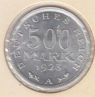 @Y@    Duitsland   500  Mark  1923  A  (D33)    UNC - 1 Mark