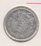 @Y@    Finland  25 Pennia  1901   (2724) - Finlande