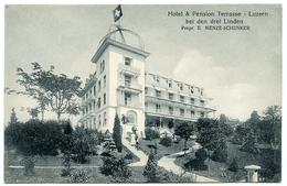LA SUISSE : LUZERN - HOTEL & PENSION TERRASSE, BEI DEN DREI LINDEN, PROPR. E. MENZE SCHENKER - LU Luzern