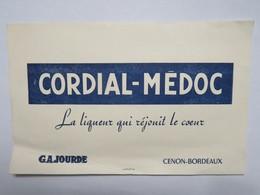 Buvard : CORDIAL MEDOC, La Liqueur Qui Réjouit Le Coeur, GAJOURDE - Liqueur & Bière