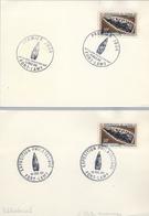 1966 , PREHISTORIA , TCHAD , PUNTA DE FLECHA DEL MUSEO NACIONAL , PRIMER DIA Y MAT. ESPECIAL EN DOS TARJETAS - Preistoria
