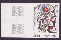 France 1979 N° 2067a Non Dentelé Neuf Luxe ** Cote 85€ Tableaux Création Philatélique Salvador Dali - Francia