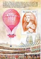 Lote A372B, Nicaragua, 1999, Hf, SS, La Vuelta Al Mundo En 20 Dias, Ballooning, Globo, Madame Thible - Nicaragua