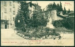 CARTOLINA - BRESCIA - CV384 BRESCIA Piazza Tito Speri, FP Viaggiata 1903, Ottime Condizioni - Brescia