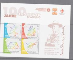 SCOUTS -  AUSTRIA - 2007 - SCOUTING CENTENARY  SHEETLET OF 4 MINT NEVER HINGED ,SG CAT £11+ - Scouting