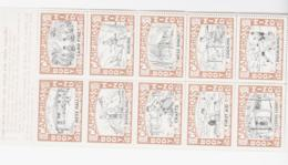 SCOUTS -  USA-  1939 - CAMP GROSS VIGNETTE SHEETLET OF 10 MNH , MOUNTED MARGIN - Scouting
