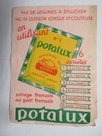"""Buvard : """"POTALUX"""" 6 Variétés - Potages & Sauces"""