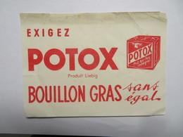 "Buvard : Exigez ""POTOX"", Produit Leibig - Soups & Sauces"