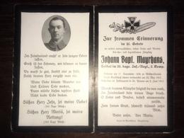 Sterbebild Wk1 Ww1 Bidprentje Avis Décès Deathcard Ersatz IR20 ST. PREUVE SISSONNE Block 8 Grab 186 Aus Wildpoldsried - 1914-18