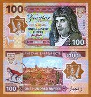 Zanzibar (Tanzania), 100 Rupees, 2018, Private Issue UNC - Freddie Mercury - Billets
