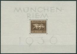 Deutsches Reich 1936 Galopprennen Das Braune Band Block 4 Mit Falz - Ungebraucht