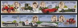Uganda 1994 - Mi-Nr. 1308-1315 ** - MNH - Autos / Cars - Uganda (1962-...)