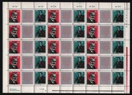 DDR 1962 - Mi-Nr. 893-894 ** - MNH - Formnummer II - ZDR-Bogen - DDR