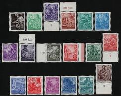 DDR 1953 - Mi-Nr. 362-379 ** - MNH - Fünfjahrplan I - Ungebraucht