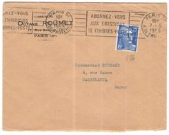 FRANCIA - France - 1955 - 15F Marianne De Gandon + Flamme Abonnez-vous Aux émissions De Timbres-poste - Octave Roumet - - 1945-54 Maríanne De Gandon