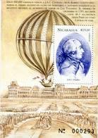 Lote A372d, Nicaragua, 1999, Hf, SS, La Vuelta Al Mundo En 20 Dias, Ballooning, Globo, J.A.C Charles - Nicaragua