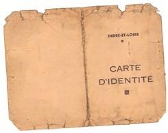 CARTE D'IDENTITE -INDRE ET LOIRE  1941 - Mappe