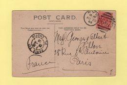 Angleterre - Rye - 667 - 25 Aout 1903 - Destination Paris - Storia Postale