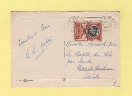 Vatican - Carte Postale Destination France - 1957 - Vatican