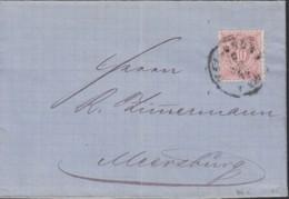 WÜRTTEMBERG 46 A EF, Auf Brief Der Fa. Chr. Heinr. Schmidt Mit Stempel: Heilbronn 15.JUN 1877 - Wuerttemberg