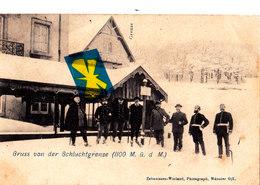 Grenze - Schlucht - Gruss Von Der Schluchtgrenze - Douane-Frontiere Animée Par Douaniers Et Soldats Avant 1914 - Douane