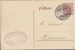 WÜRTTEMBERG DP 44/03, Ortspostkarte Mit Stempel: Herrenalb 4.OKT 1917 - Wuerttemberg