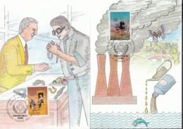 UNO GENF 190-191, 2 Private Maximumkarten, Kongress Zur Verbrechensverhütung Und Behandlung Von Straftätern 1990 - Maximumkarten