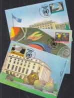 UNO GENF 256-258, 3 Private Maximumkarten, Freimarken 1994 - Maximum Cards