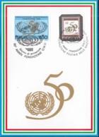 UNO GENF 261 + ZFr, It., Blaue Karte 254 Mit Stempel Mailand 1995 - Genf - Büro Der Vereinten Nationen