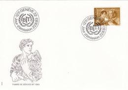 SCHWEIZ Dienst  BIT/ILO  108, FDC, Mensch Und Arbeit, 1983 - Dienstpost