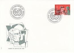 SCHWEIZ Dienst  BIT/ILO  109, FDC, Mensch Und Arbeit, 1988 - Dienstpost