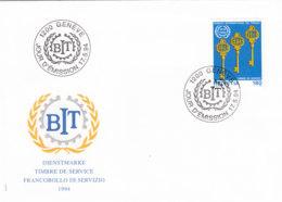 SCHWEIZ Dienst  BIT/ILO  110, FDC, 75 Jahre Internationale Arbeitsorganisation (ILO), 1994 - Dienstpost